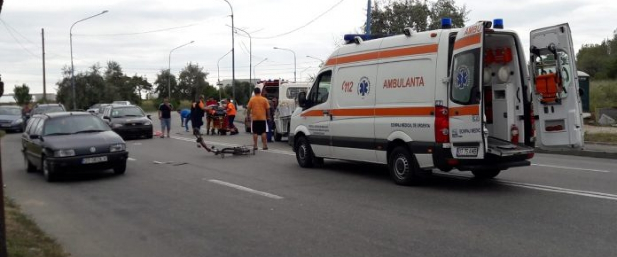 Biciclist accidentat la Pirelli